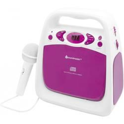 Detský CD prehrávač SoundMaster KCD 50 AUX, CD, UKW, USB vr. karaoke, vr. mikrofónu, ružová