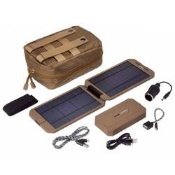 Solárna nabíjačka Power Traveller Powerbank Solar Extreme Tactical PTL-EXT001 TAC, 12000 mAh, 5 V, 12 V