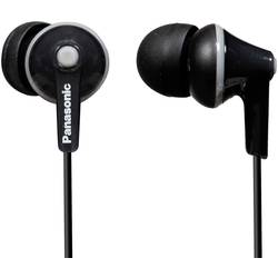 Štupľové slúchadlá Panasonic RP-HJE125E RP-HJE125E-K, čierna