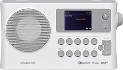 DAB+ přenosné rádio Sangean BTR-160, Bluetooth, DAB+, FM, USB, bílá