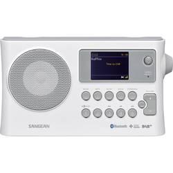 DAB+ prenosné rádio Sangean BTR-160, Bluetooth, DAB+, UKW, USB, biela