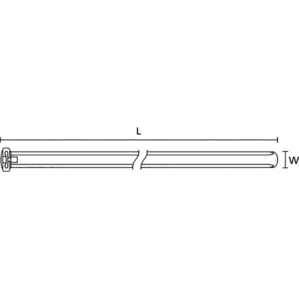 Kabelbinder 426 mm Schwarz Hitzestabilisiert, mit Glasfaserstift ...