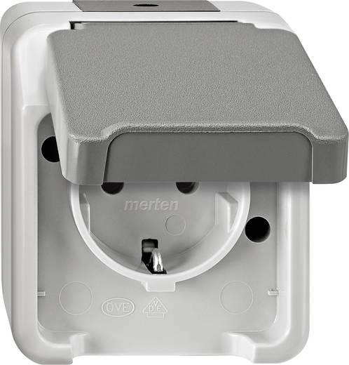 schneider electric 1fach komplett schutzkontakt steckdose mit klappdeckel aquastar lichtgrau 4074944. Black Bedroom Furniture Sets. Home Design Ideas