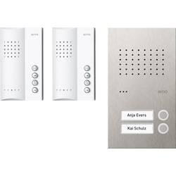 Kabelový domovní telefon Ritto by Schneider RGE1818425 3857211, bílá/ocelová