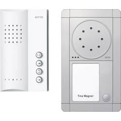 Kabelový domovní telefon Ritto by Schneider RGE1891320 3857202, stříbrná/bílá