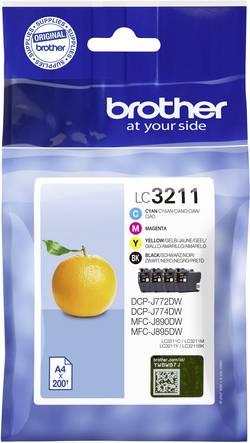 Image of Brother Tinte Kombi-Pack LC-3211 VALDR Original Cyan, Magenta, Gelb, Schwarz LC3211VALDR
