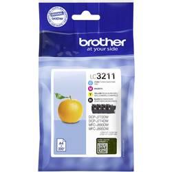 Sada náplní do tlačiarne Brother LC-3211 VALDR LC3211VALDR, zelenomodrá, purpurová, žltá, čierna