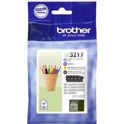 Brother Ink set LC-3217 VALDR originál azurová, purppurová, žlutá, černá LC3217VALDR