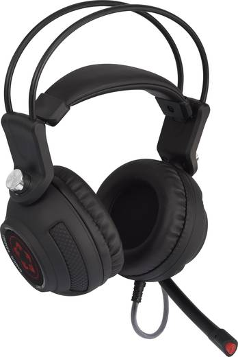 Gaming Headset 7.1 Surround USB Stereo Renkforce GHD-500PRO Over Ear Schwarz