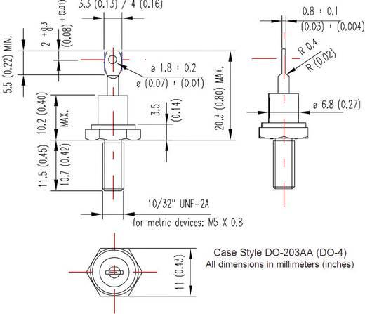 Standarddiode Vishay 12F10 DO-203AA 100 V 12 A
