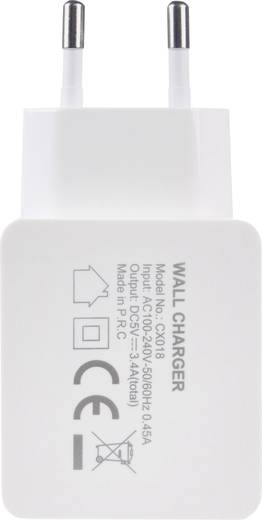 USB-Ladegerät Xtorm by A-Solar CX018 CX018 Steckdose Ausgangsstrom (max.) 5400 mA 2 x USB, USB-C™ Buchse