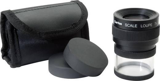 Handlupe mit Messskala Vergrößerungsfaktor: 7 x Linsengröße: (Ø) 25 mm Schwarz Ideal Tek