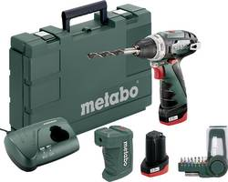 Aku vrtací šroubovák Metabo PowerMaxx BS Basic Set 600080910, 10.8 V, 2 Ah, Li-Ion akumulátor