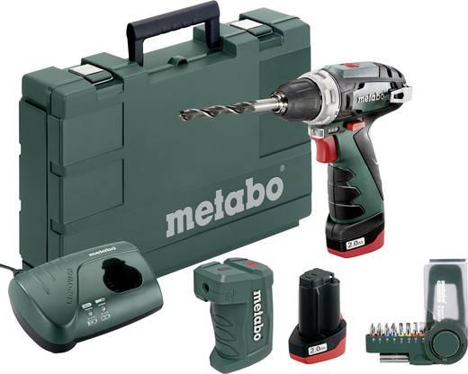 Metabo PowerMaxx BS Basic Set Akku-Bohrschrauber 10.8 V 2 Ah Li-Ion inkl. 2. Akku, inkl. Koffer, inkl. Zubehör