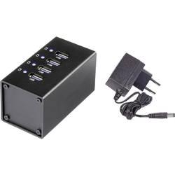 USB 3.0 hub Renkforce RF-UH-A4, 4 porty, s hliníkovým krytom, 50 mm, čierna