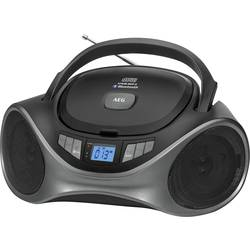 FM rádio s CD prehrávačom AEG SR 4375, AUX, Bluetooth, UKW, USB, čierna