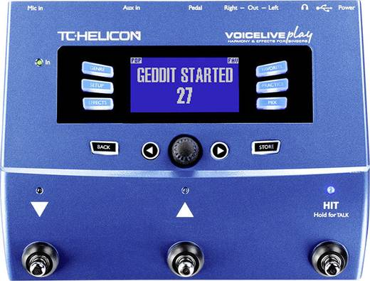 1-Kanal Effektgerät TC Helicon VoiceLive Play mit Display