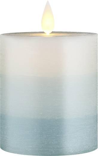 LED-Echtwachskerze Weiß Warm-Weiß (Ø x H) 82 mm x 125 mm Polarlite