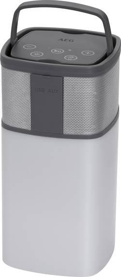 Image of AEG BSS 4841 Bluetooth® Lautsprecher AUX, inkl. Halterung, Outdoor, spritzwassergeschützt, SD, Freisprechfunktion Grau,