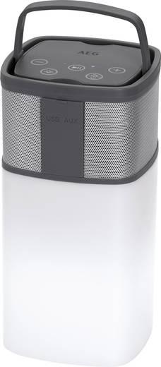 AEG BSS 4841 Bluetooth® Lautsprecher AUX, inkl. Halterung, Outdoor, spritzwassergeschützt, SD, Freisprechfunktion Grau,