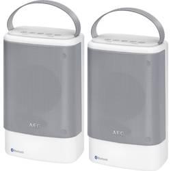 Image of AEG BSS 4833 Bluetooth® Lautsprecher AUX, Freisprechfunktion, spritzwassergeschützt, USB Weiß