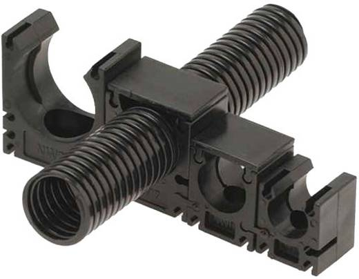 Halter für Schutzschlauch Schwarz 23 mm Helukabel 99274 SH-Systemhalter SW NW23 1 St.