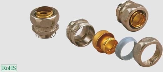 Schlauchverschraubung Silber, Messing M25 Gerade Helukabel 93534 US M25x1,5 (10 St) S ,S-PU 1 St.