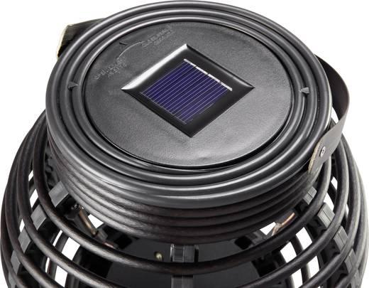 Solar-Gartenleuchte LED Warm-Weiß Polarlite Rattan 160 Schwarz