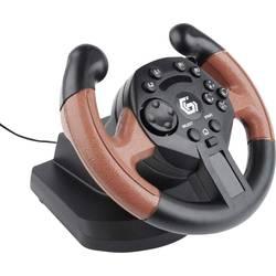 Volant Gembird STR-UV-01 USB PC, PlayStation 3 černá, červená vč. pedálů