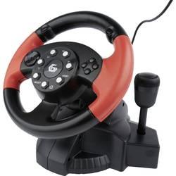 Volant Gembird STR-MV-02 USB PC, PlayStation 2, PlayStation 3 černá, červená vč. pedálů , včetně řazení