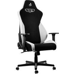 Herné stoličky Nitro Concepts S300 Radiant White, NC-S300-BW, čierna, biela