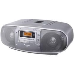 FM CD rádio Panasonic RX-D50AEG, CD, kazeta, FM, stříbrná