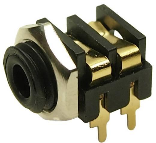 Cliff CL13845G Klinken-Steckverbinder 3.5 mm Buchse, Einbau horizontal Polzahl: 2 Mono Schwarz 1 St.