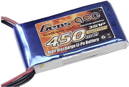 Gens ace Modellbau-Akkupack (LiPo) 11.1 V 450 mAh Zellen-Zahl: 3 25 C Stick BEC