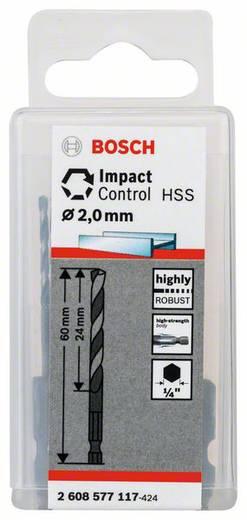 Metall-Spiralbohrer 2 mm Bosch Accessories 2608577117 10 St.