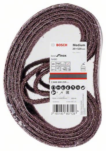 Schleifband (L x B) 520 mm x 20 mm Bosch Accessories Best for Inox 2608608Z29 10 St.