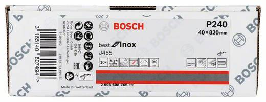 Bosch Accessories Best for Inox 2608608Z66 Schleifband Körnung 240 (L x B) 820 mm x 40 mm 10 St.