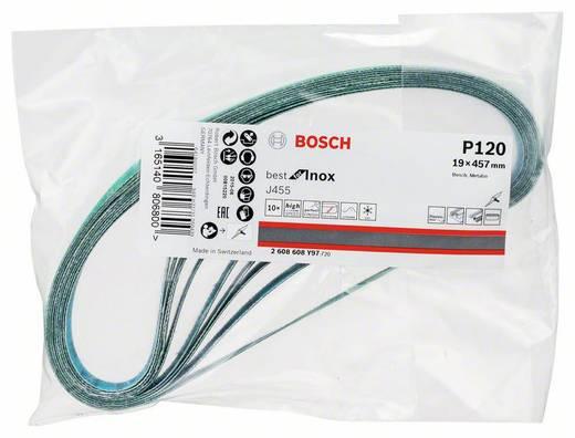 Bosch Accessories Best for Inox 2608608Y97 Schleifband Körnung 120 (L x B) 457 mm x 19 mm 10 St.