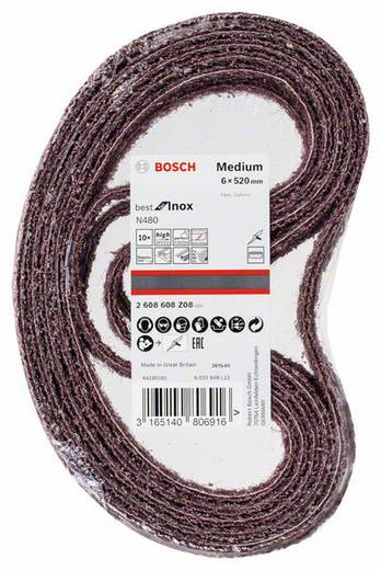 Schleifband (L x B) 520 mm x 6 mm Bosch Accessories Best for Inox 2608608Z08 10 St.