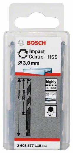 Metall-Spiralbohrer 3 mm Bosch Accessories 2608577118 10 St.