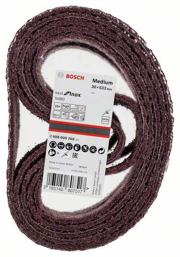 Schleifband (L x B) 533 mm x 30 mm Bosch Accessories Best for Inox 2608608Z68 10 St.