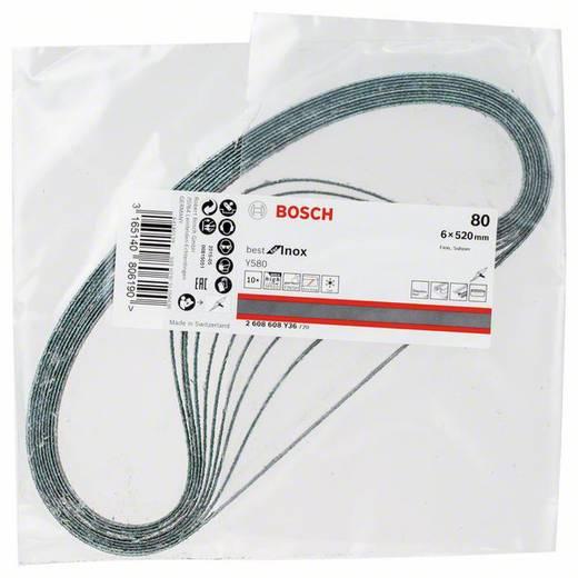 Schleifband Körnung 80 (L x B) 520 mm x 6 mm Bosch Accessories Best for Inox 2608608Y36 10 St.