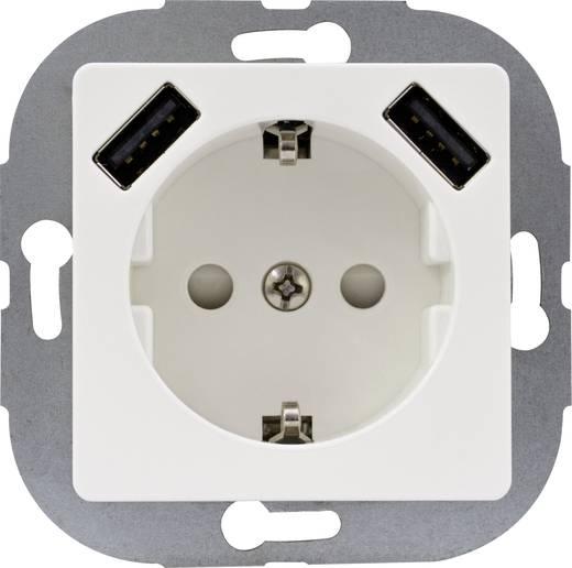 REV 0240130106 Unterputz-Steckdose Kinderschutz, mit USB IP20 Weiß