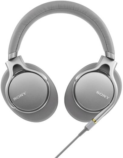 HiFi Kopfhörer Sony MDR-1AM2 Over Ear Faltbar, High-Resolution Audio, Headset, Noise Cancelling Silber