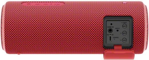 Sony SRS-XB21 Bluetooth® Lautsprecher AUX, NFC, Staubfest, Wasserfest Rot