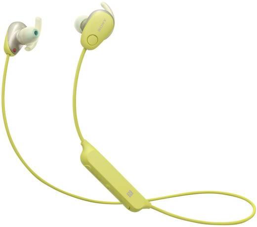 Sony WI-SP600N Bluetooth® Sport Kopfhörer In Ear Headset, Nackenbügel, NFC, Noise Cancelling, Schweißresistent Gelb