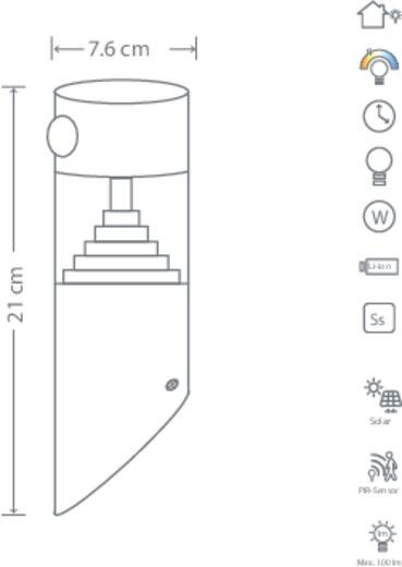 solar wandstrahler mit bewegungsmelder warm wei polarlite wldc03pir dunkel grau kaufen. Black Bedroom Furniture Sets. Home Design Ideas