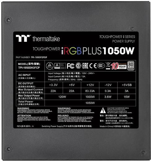 PC Netzteil Thermaltake Toughpower iRGB 1050 W ATX 80PLUS® Platinum