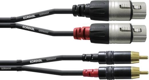 Audio Adapterkabel [2x XLR-Buchse - 2x Cinch-Stecker] 3 m Schwarz Cordial