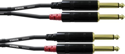 Audio Adapterkabel [2x Klinkenstecker 6.35 mm - 2x Klinkenstecker 6.35 mm] 1.50 m Schwarz Cordial